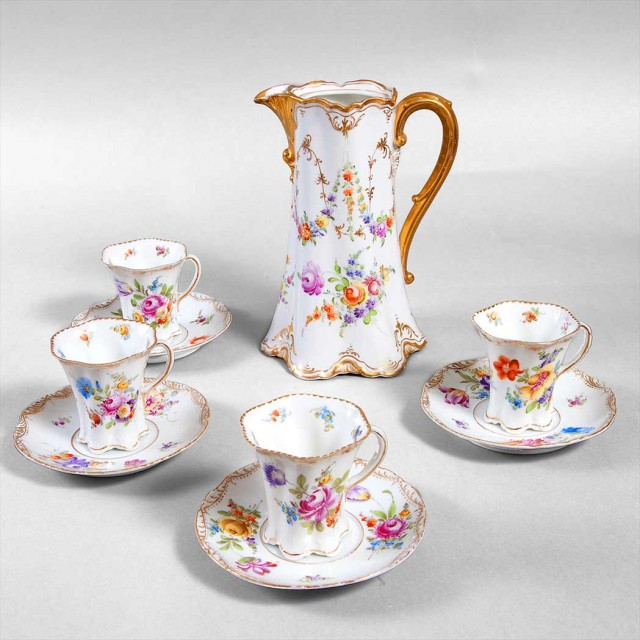 Dresden Porcelain Chocolate Service