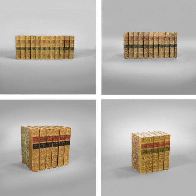[FINE BINDINGS]  Group of thirty-four similarly bound volumes