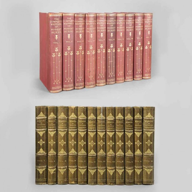 [FINE BINDINGS]  Group of twenty-two volumes