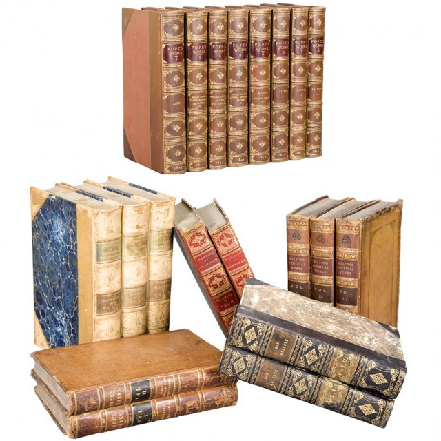 [FINE BINDINGS]  Group of approximately thirty-two volumes