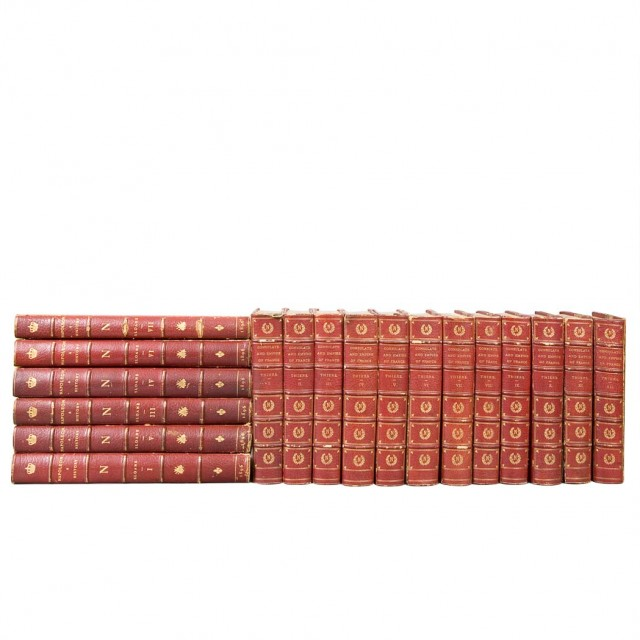 [FINE BINDINGS - NAPOLEON]  Group of approximately eighteen volumes