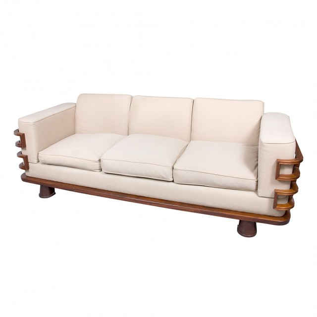 Streamline Three Seat Sofa United States 20th Century