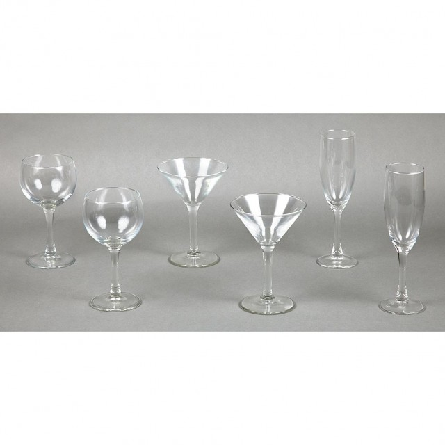 Set of Glass Stemware From Elaine\'s Bar
