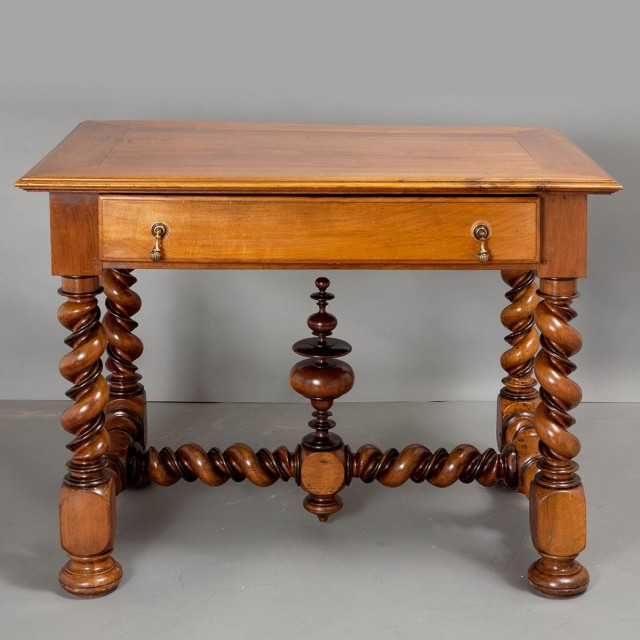 Continental Baroque Style Walnut Side Table
