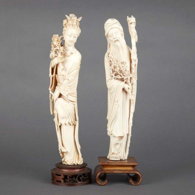 Two Chinese Ivory Figures For Sale At Auction On Mon 03192012