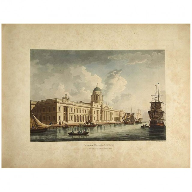 [COLOR PLATE]  MALTON, JAMES. A picturesque and descriptive view of the city of Dublin displayed in a series of the most interesting scenes taken in the year 1791