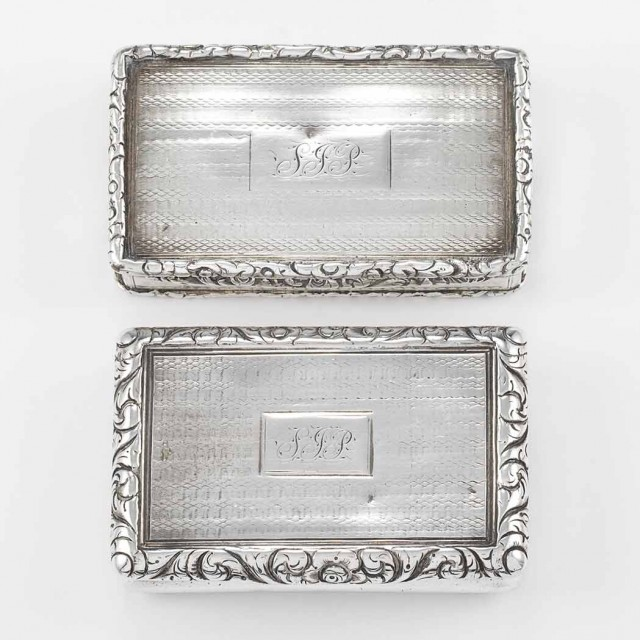 Two George IV Silver Snuff Boxes