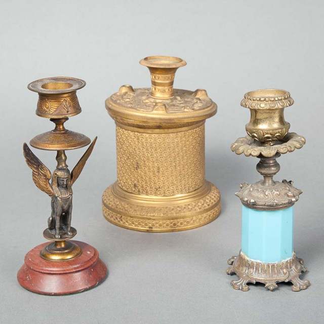 Group of Gilt-Bronze Desk Articles