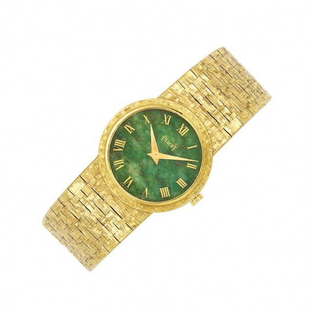 Gold and Nephrite Wristwatch, Piaget