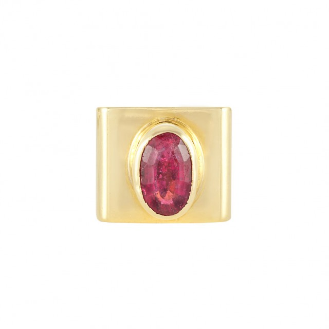 Gold and Pink Tourmaline Ring, Cartier, Dinh Van