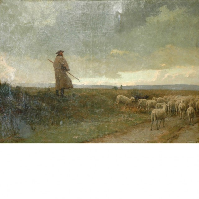 Louis Emile Adan French, 1839-1937 A Shepherd and His Flock