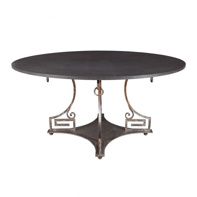 Neoclassical Style Polished Wrought Steel Center Table