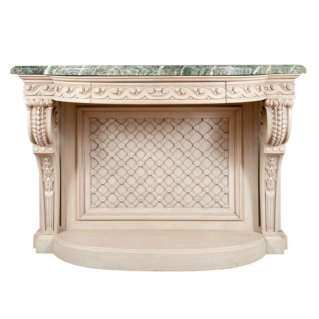Louis XVI Style Carved and Painted Console
