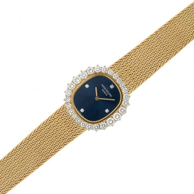Lady\'s Gold and Diamond Wristwatch, Patek Philippe and Co.