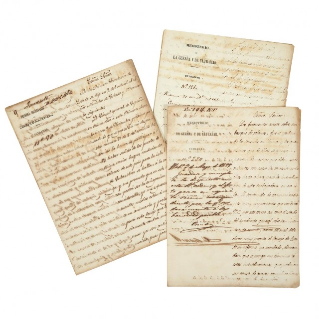 CUBA--CHINESE LABOR] Group of three documents