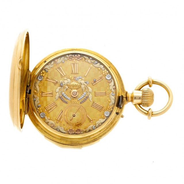 Gold Hunting Case Minute Repeater Pocket Watch