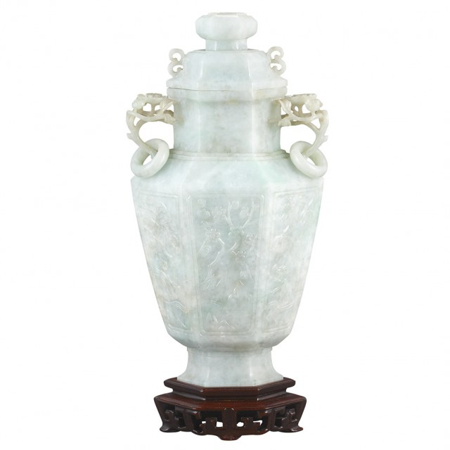 Chinese Jadeite Vase For Sale At Auction On Mon 09162013 0700