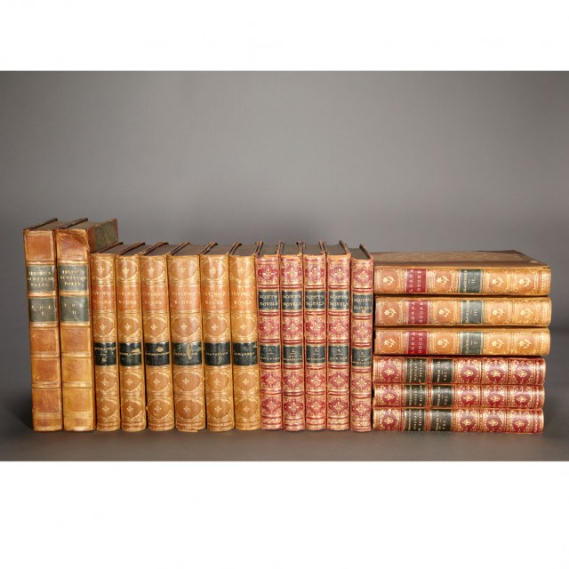 FINE BINDINGS] Group of approximately thirty-five volumes