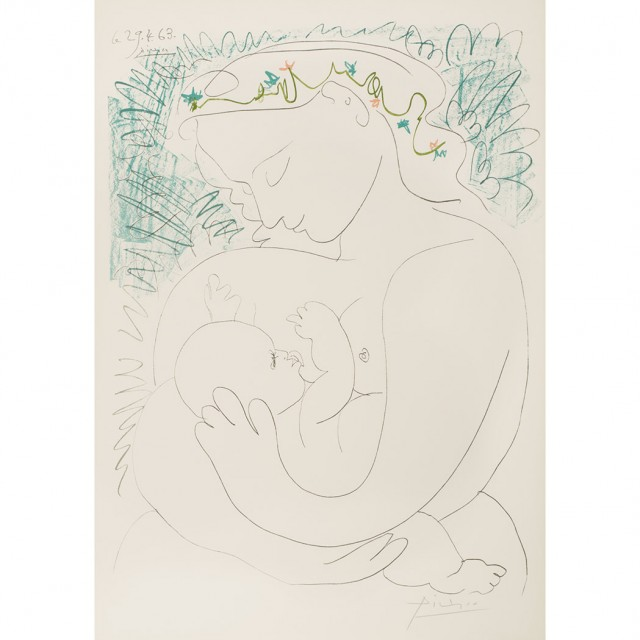 After Pablo Picasso MATERNITE Color offset lithograph for Sale at ...