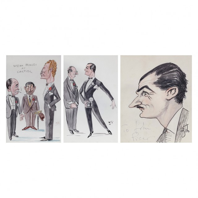 ZITO, VINCENZO  Large group of approximately thirty original caricatures