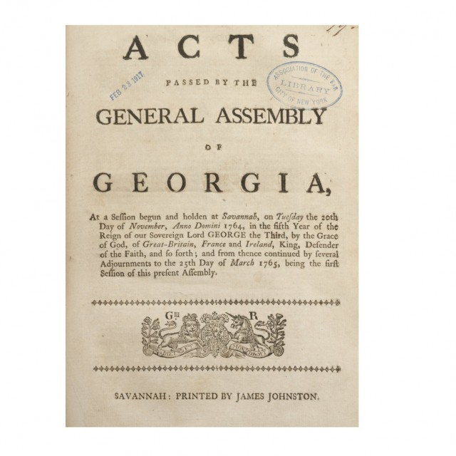 [GEORGIA-FIRST PRINTING]  Bound collection of Georgia session laws