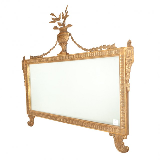 Georgian Style Giltwood Overmantel Mirror