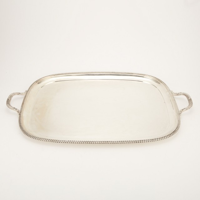 English Silver Two-Handled Tray