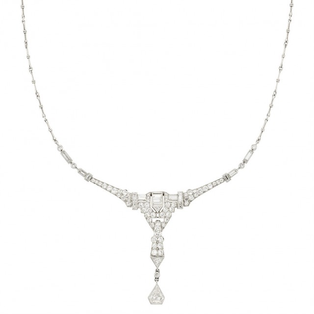 Platinum and Diamond Necklace, Tiffany & Co.
