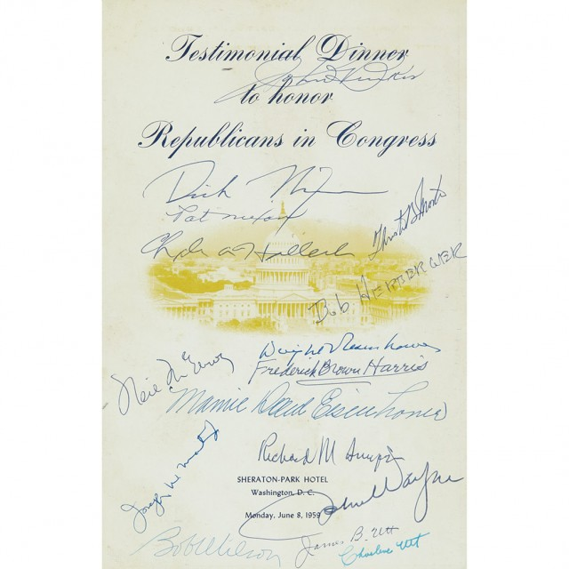 EISENHOWER, DWIGHT and NIXON, RICHARD] Testimonial Dinner to Honor the...