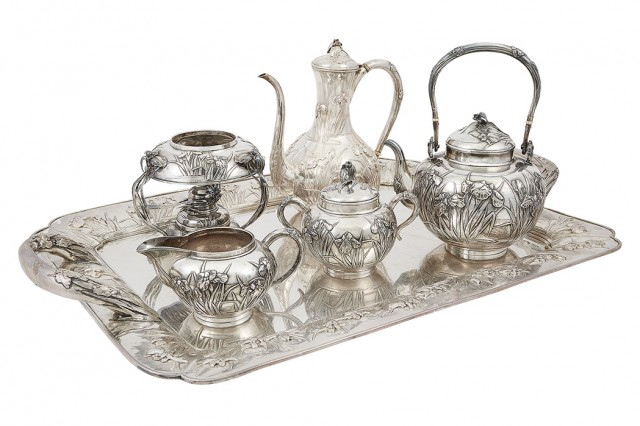 Japanese Silver Tea and Coffee Service