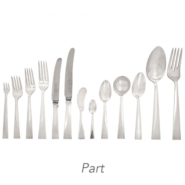 American Arts and Crafts Sterling Silver Flatware Service