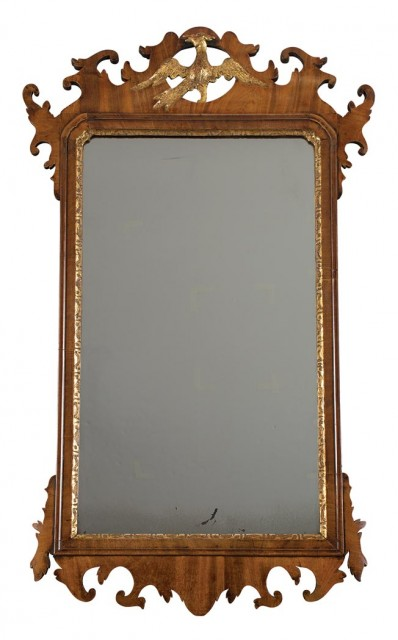 Chippendale Mahogany Parcel Gilt Mirror