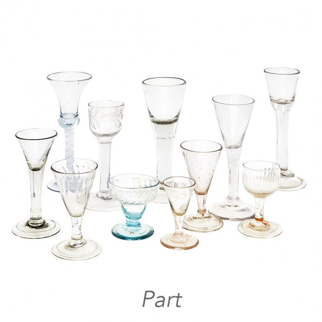 Collection of Hand Blown Glass Stemware
