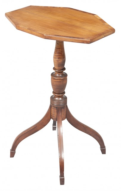 Federal Maple Tilt-Top Stand