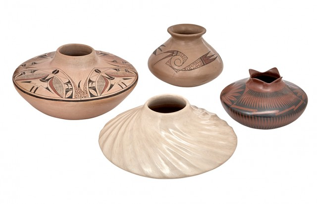 Group of Four Southwestern Pottery Vessels