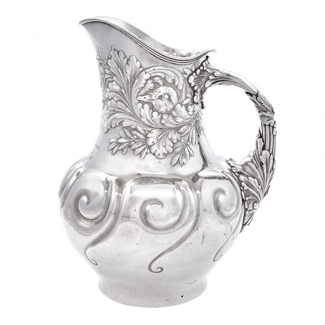 Whiting Sterling Silver Presentation Water Pitcher