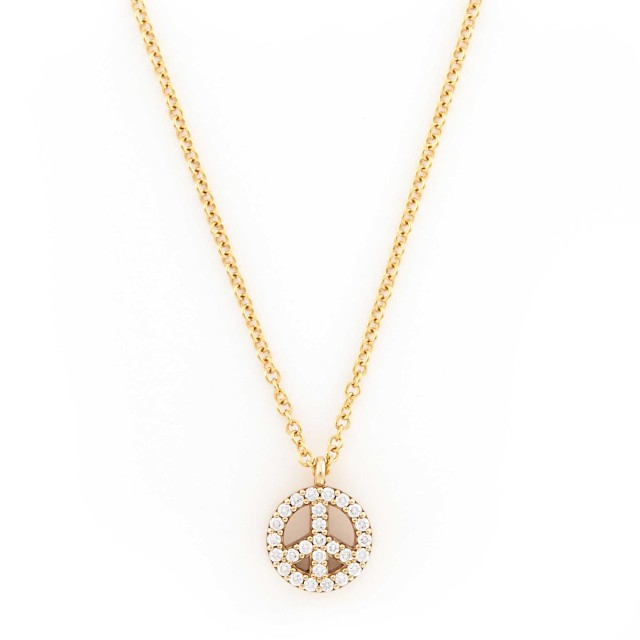 69ccd092c Rose-Gold and Diamond Peace Pendant-Necklace, Tiffany & Co. | Doyle ...