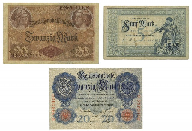 German Bank Notes Empire to 1945 Issues