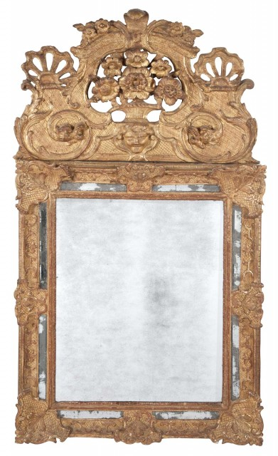 Régence Gilt Mirror-Framed Mirror