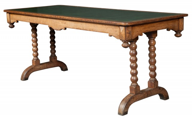 Victorian Oak Writing Table