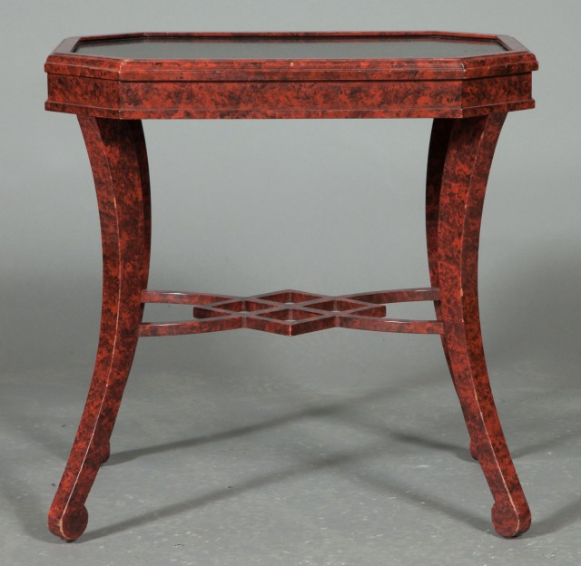 Wondrous Faux Red Tortoiseshell And Granite Occasional Table By Mario Pabps2019 Chair Design Images Pabps2019Com