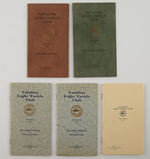 [ANGLING CLUB]  CATALINA LIGHT TACKLE CLUB  Five pamphlets.