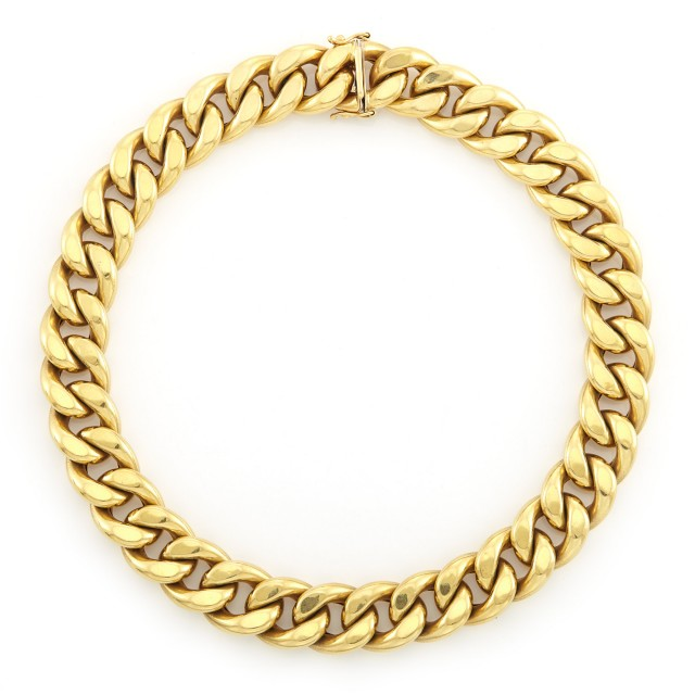 Gold Curb Link Necklace