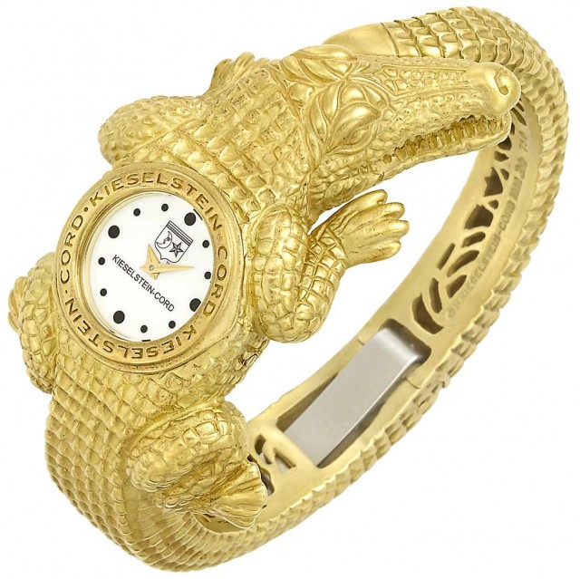 Gold Alligator Bangle-Watch, Barry Kieselstein-Cord