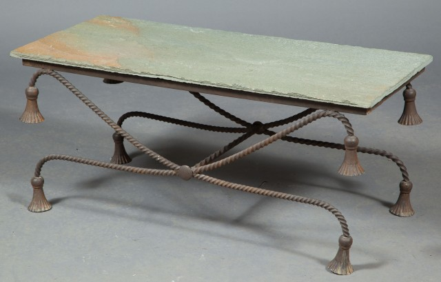 Iron and Slate Low Table