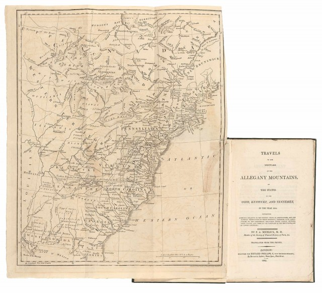 MICHAUX, F.[RANCOIS] A.  Travels to the westward of the Allegany Mountains in the states of the Ohio, Kentucky and Tennessee in the year 1802...