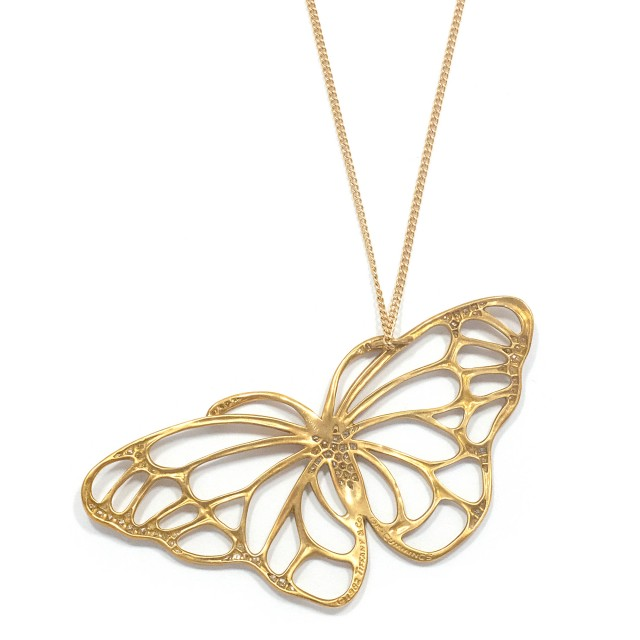 Gold and Diamond Butterfly Pendant-Necklace, Tiffany and Co., Angela Cummings