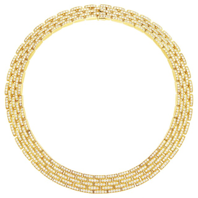 Cartier Gold and Diamond 'Panthère' Necklace, France