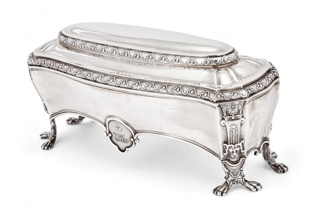 Russian Silver Toilet Box From The Grand Duchess Maria