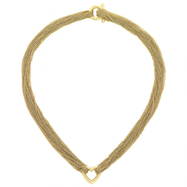 Multistrand Gold Heart Necklace, Tiffany and Co.
